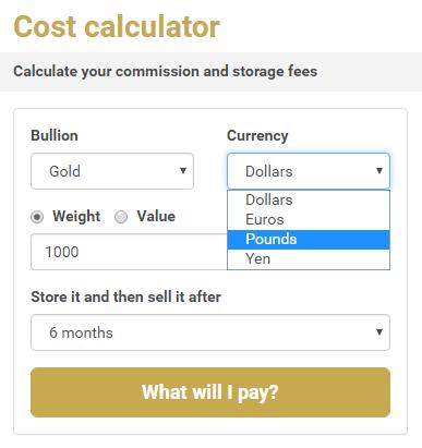 Gold cost calculator