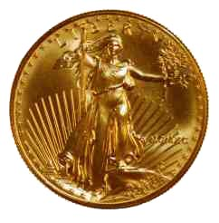 A Gold Eagle Coin