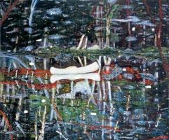 Peter Doig's White Canoe