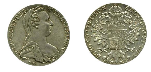18th century trade coin, the Maria Theresa thaler