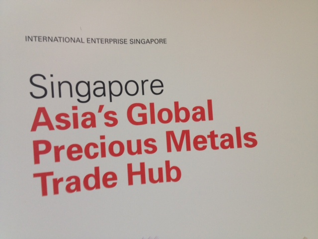 Promotion in LBMA 2016 delegate's pack, repeating advert from 2012 in Hong Kong